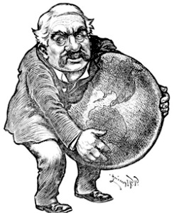A cartoon depiction of JP Morgan, the hyper-influential banker of the early 20th Century. Several of Morgan's banks and bank holding companies merged to form today what is known as JP Morgan Chase, one of the banks at the center of the LIBOR fraud.