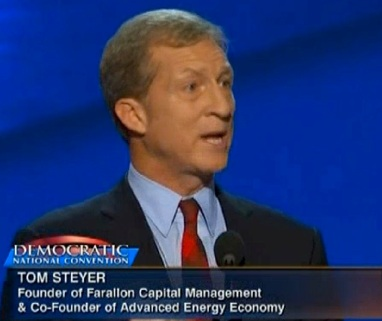 Tom Steyer speaking at the Democratic National Convention in 2012.